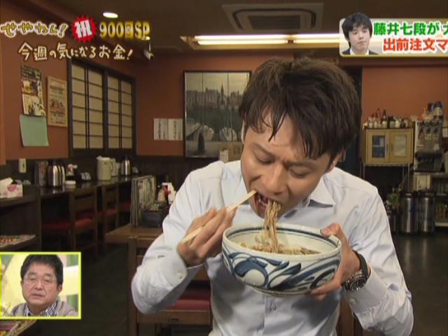 リポーターの大吉洋平アナウンサーが「ぶっかけそば定食」を食レポ