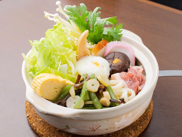 山菜鍋焼きうどん(調理前)