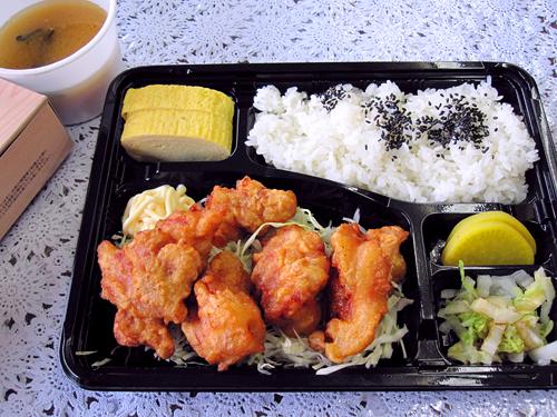 から揚げ弁当(味噌汁付き)