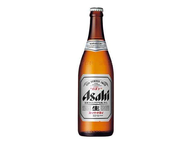 瓶ビール(アサヒスーパードライ中瓶500ml)