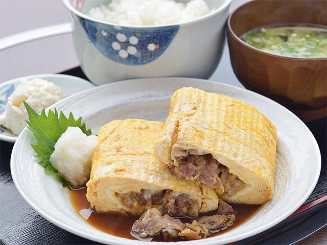 肉巻き弁当(味噌汁付き)