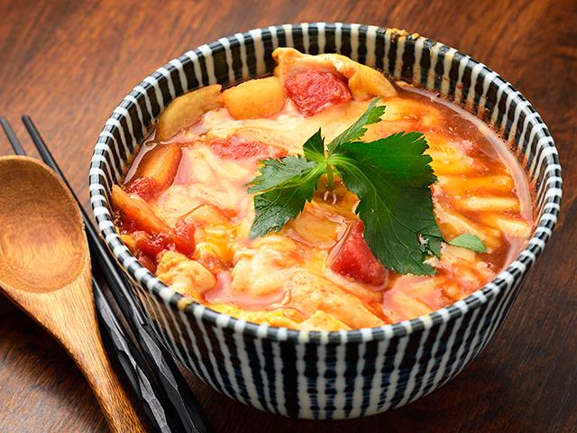 トマトと長芋のチーズリゾット